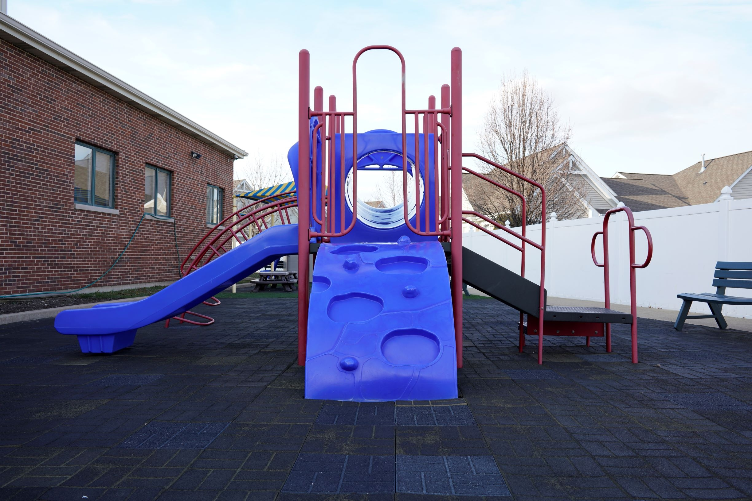 front view of playground